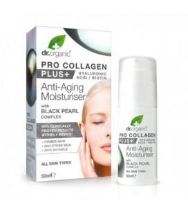 Pro Collagen+ Anti-Aging Moisturiser With Black Pearl Crema Viso con perla nera 50 ml DR. ORGANIC