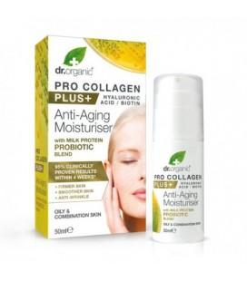 Pro Collagen+ Anti-Aging Moisturiser With Milk Protein Probiotic Blend Crema viso alle proteine del latte 50 ml DR. ORGANIC