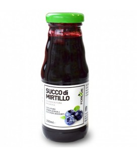 SUCCO DI FRUTTA DI MIRTILLO BIO, 200 ML