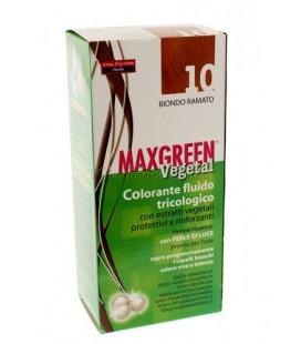 MAX GREEN VEGETAL COLORANTE FLUIDO TRICOLOGICO 10 BIONDO RAMATO 91 ML