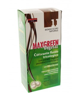 MAX GREEN VEGETAL COLORANTE FLUIDO TRICOLOGICO 11 BIONDO SCURO NATURALE 91 ML