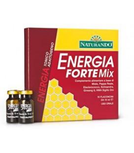 ENERGIA FORTE MIX 10 FLACONCINI DA 10 ML L'UNO, INTEGRATORE TONICO ENERGETICO NATURANDO