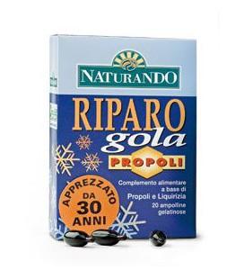 RIPARO GOLA PROPOLI, 20 AMPOLLINE, INTEGRATORE UTILE PER GOLA E FARINGE