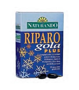 RIPARO GOLA PLUS 20 AMPOLLINE, INTEGRATORE UTILE PER GOLA E FARINGE SENZA PROPOLI