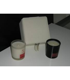 SET 2 CANDELE MUSCHIO BIANCO E RIVAGE